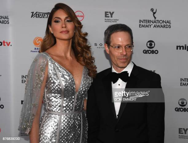 Gabriela Isler and Jonathan Blum arrives for the 45th International Emmy awards gala in New York city on November 20 2017 The International Emmy...