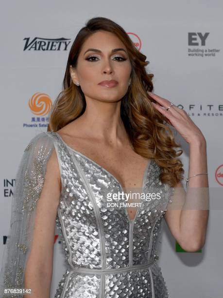 Gabriela Isler arrives for the 45th International Emmy awards gala in New York city on November 20 2017 The International Emmy Award is an award...