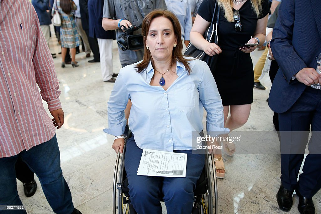 Gabriela Michetti, pre-candidate for Buenos Aires City Mayor for PRO party attends an official ceremony to inaugurate the new headquarters of Buenos Aires City Government at Centro Civico Parque Patricios on April 01, 2015 in Buenos Aires, Argentina. The headquarters government have been moved from their long-standing offices on the Plaza de Mayo to the south of the city in Parque Patricios neighbourhood. The building, designed by multiple award-winning British architect Norman Foster contains a number of wholly sustainable features.