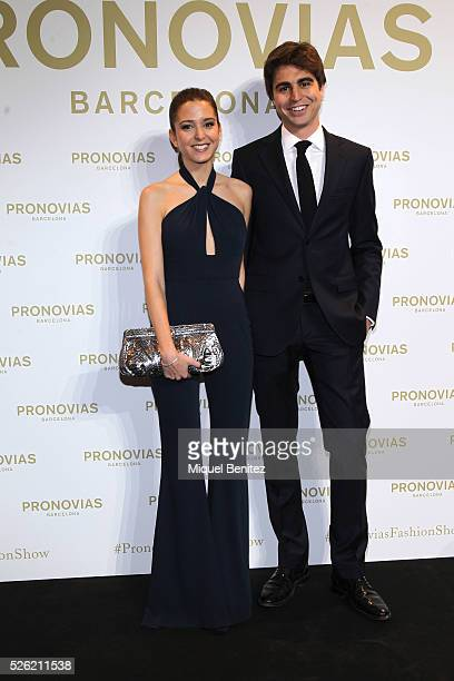 Gabriela Palatchi poses during a photocall for Pronovias bridal collection during the 'Barcelona Bridal Fashion Week 2016' at Italian Pavilion of...