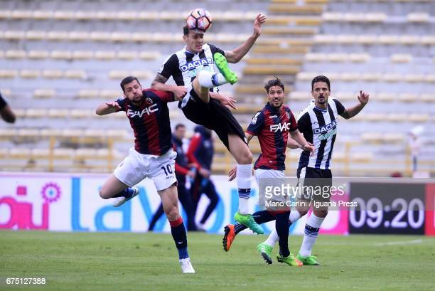Gabriele Angella of Udinese Calcio in action during the Serie A match between Bologna FC and Udinese Calcio at Stadio Renato Dall'Ara on April 30...