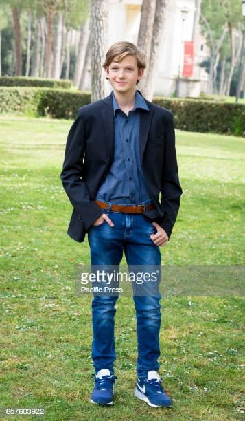 Gabriele Caprio attends the photocall of 'La mia famiglia a soqquadro'