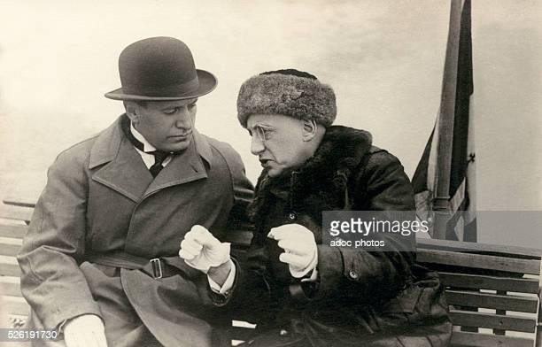 Gabriele d'Annunzio with Benito Mussolini By 1925