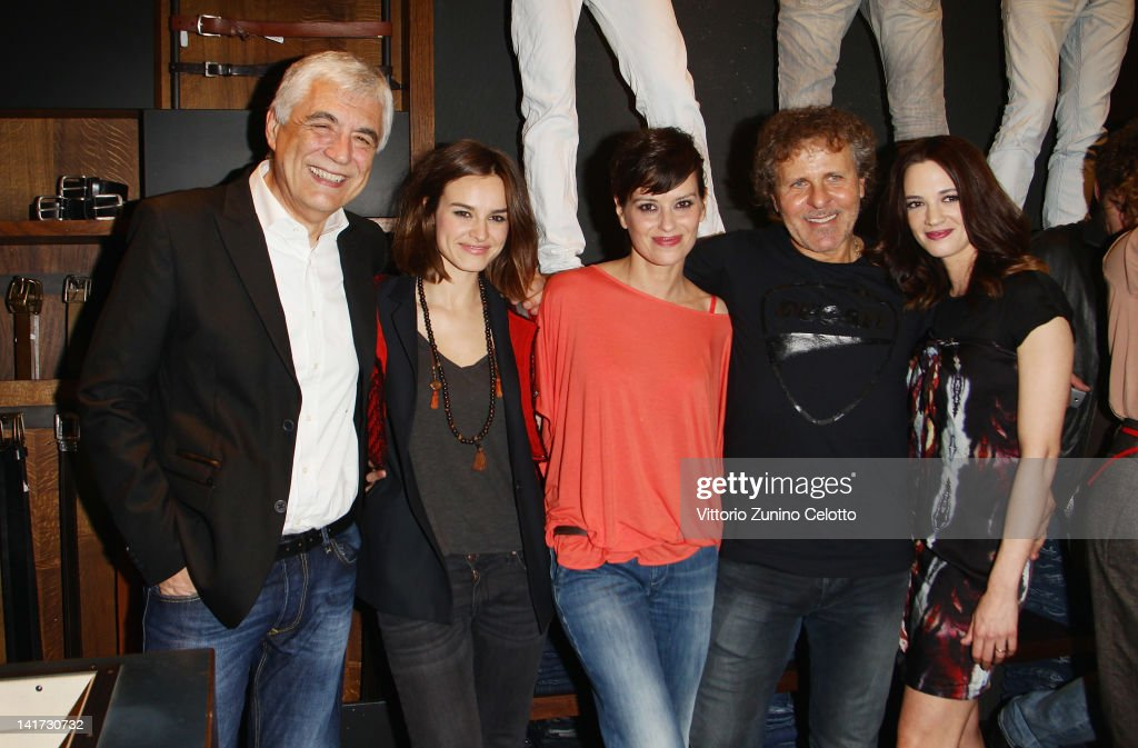 Gabriele Del Torchio Kasia Smutniak Claudia Pandolfi Renzo Rosso and Asia Argento attend the 'Diesel Together With Ducati' cocktail party on March 22...