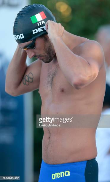 Gabriele Detti attends the Aspria Swimming Cup Milano BPM 2017 Trophy at the Aspria Harbour Club on July 6 2017 in Milan Italy