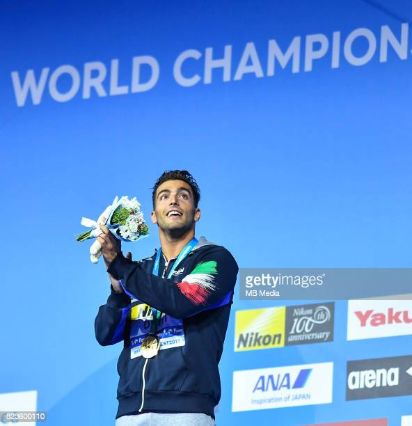 Gabriele Detti during the Budapest 2017 FINA World Championships on July 26 2017 in Budapest Hungary