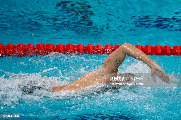 Gabriele Detti from Italy competes during the Men's 1500m Freestyle Final of the FINA/airweave Swimming World Cup Eindhoven 2017 at Pieter van den...
