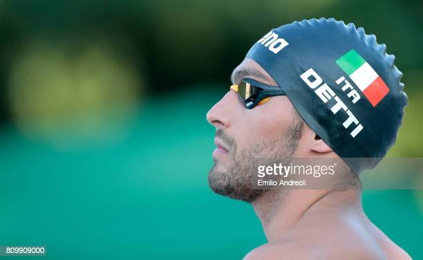 Gabriele Detti looks on during the Aspria Swimming Cup Milano BPM 2017 Trophy at the Aspria Harbour Club on July 6 2017 in Milan Italy