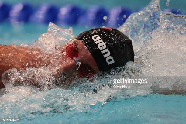 Gabriele Detti of Italy compete in the Men's 200m freestyle race during day two of the FINA Airweave Swimming World Cup Berlin 2017 at Europa...