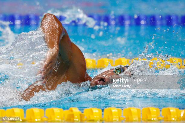 Gabriele Detti of Italy competes during the Men's 800m Freestyle Heats on day twelve of the Budapest 2017 FINA World Championships on July 25 2017 in...