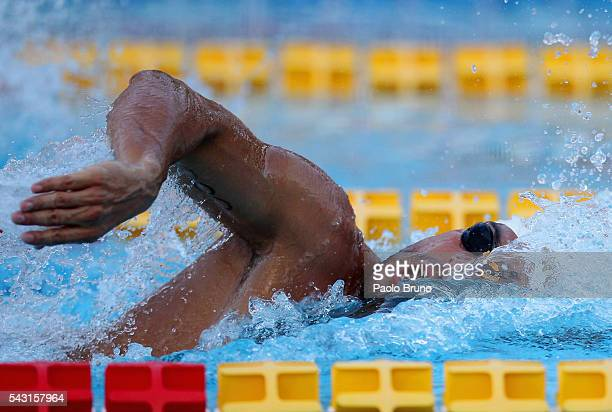 Gabriele Detti of Italy competes in the Men's 800m Freestyle Final during the 53rd 'Sette Colli' International Swimming Trophy at Stadio del Nuoto on...