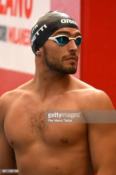 Gabriele Detti of Italy prepares the start of Men's 400m Freestyle qualification of 7th Citta di Milano Swimming Trophy on March 10 2017 in Milan...