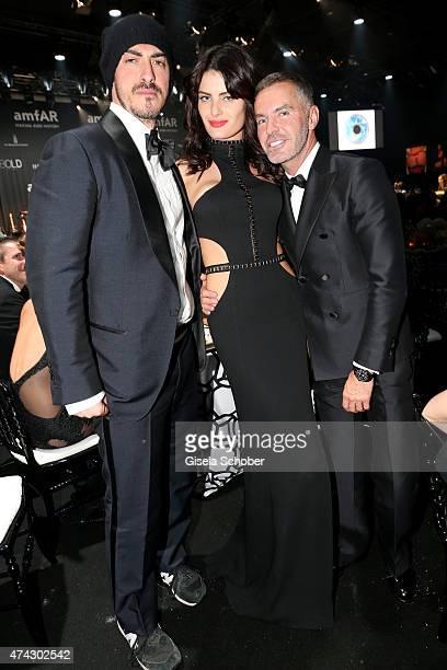 Gabriele Moratti Model Isabeli Fontana and Designer Dan Caten attend amfAR's 22nd Cinema Against AIDS Gala Presented By Bold Films And Harry Winston...