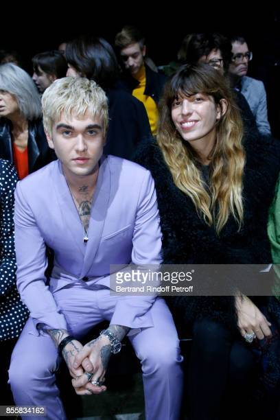 GabrielKane DayLewis and Lou Doillon attend the Haider Ackermann show as part of the Paris Fashion Week Womenswear Spring/Summer 2018 on September 30...