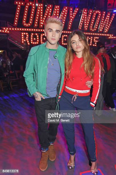 GabrielKane DayLewis and Thylane Blondeau attend the Tommy Hilfiger TOMMYNOW Fall 2017 Show during London Fashion Week September 2017 at The...