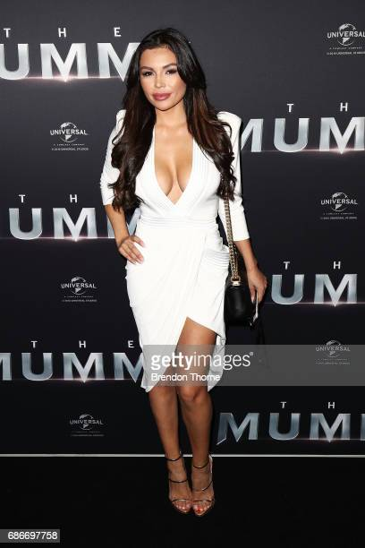 Gabriella Cevallos arrives ahead of The Mummy Australian Premiere at State Theatre on May 22 2017 in Sydney Australia