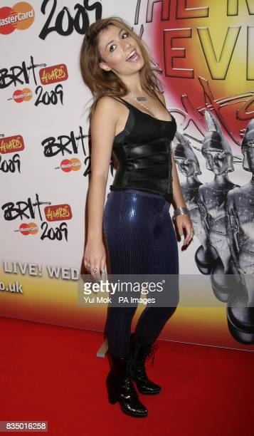 Gabriella Cilmi arriving for the Brit Awards shortlist announcement at the Roundhouse in London