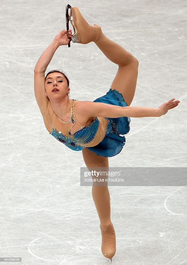 Gabriella Daleman of Canada performs during her free skating in the women's singles at the world figure skating championships in Saitama on March 29, 2014.