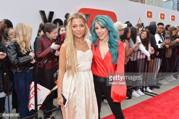 Gabriella Demartino and Niki Demartino of Niki Gabi attend the YouTube #Brandcast presented by Google at Javits Center North on May 4 2017 in New...