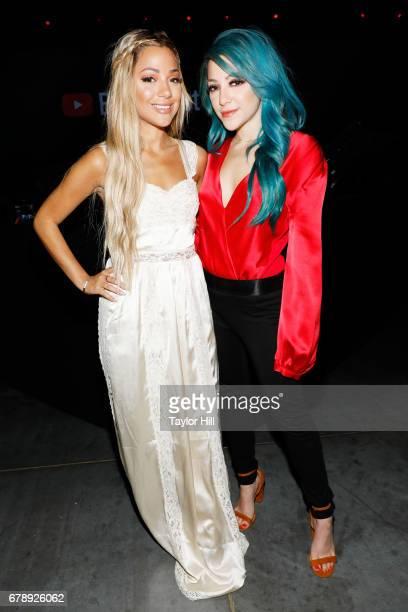 Gabriella Demartino and Niki Demartino of Niki Gabi attend YouTube #Brandcast presented by Google at Javits Center North on May 4 2017 in New York...