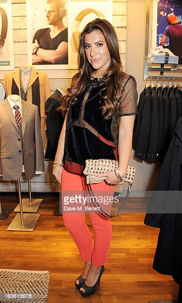 Gabriella Ellis attends the Panasonic Technics 'Shop To The Beat' Party hosted by George Lamb at French Connection Oxford Circus on March 13 2013 in...