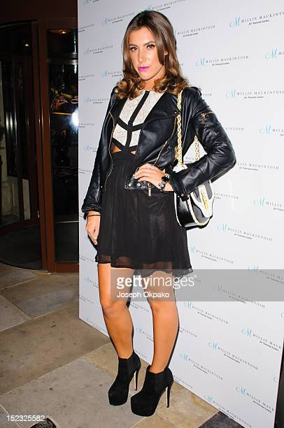 Gabriella Ellis from the cast of Made in Chelsea attends the launch of Millie Mackintosh's Nouveau lashes at Sanctum Soho on September 18 2012 in...