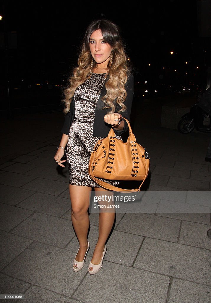 Gabriella Ellis seen arriving at the Sky bar, Millbank Tower on February 27, 2012 in London, England.