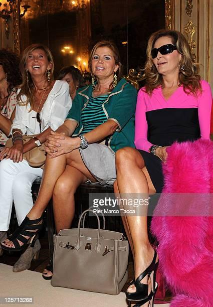 Gabriella Golia and Daniela Santanche' attend the Simonetta Ravizza Spring/Summer 2012 fashion show as part of Milan Womenswear Fashion Week on...