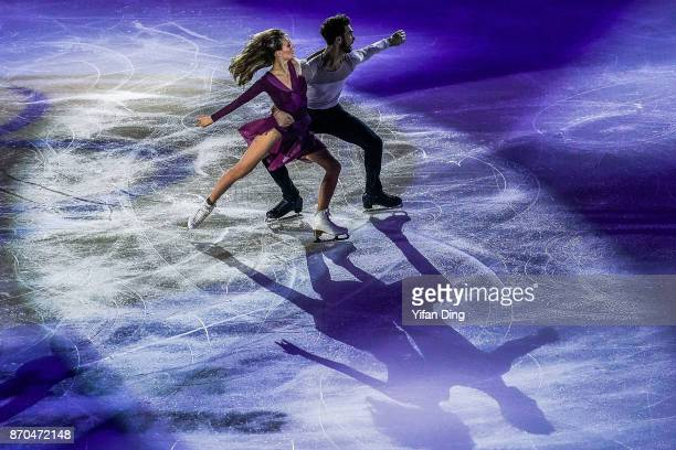 Gabriella Papadakis and Guillaume Cizeron of France perform during exhibition program of Audi Cup of China ISU Grand Prix of Figure Skating 2017 at...