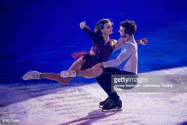 Gabriella Papadakis and Guillaume Cizeron of France perform in the Gala Exhibition during day three of the ISU Grand Prix of Figure Skating at...