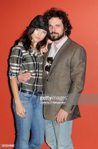 Gabriella Pession and Francesco Montanari attend 'Oggi Sposi' Photocall at Cinema Apollo on October 23 2009 in Milan Italy