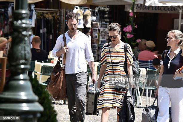 Gabriella Pession and Richard Flood are seen on July 29 2016 in Portofino Italy