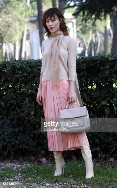 Gabriella Pession attends a photocall for 'La Porta Rossa' fiction Rai at Villa Borghese on February 15 2017 in Rome Italy