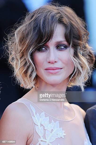 Gabriella Pession attends a premiere for 'A Bigger Splash' during the 72nd Venice Film Festival at on September 6 2015 in Venice Italy