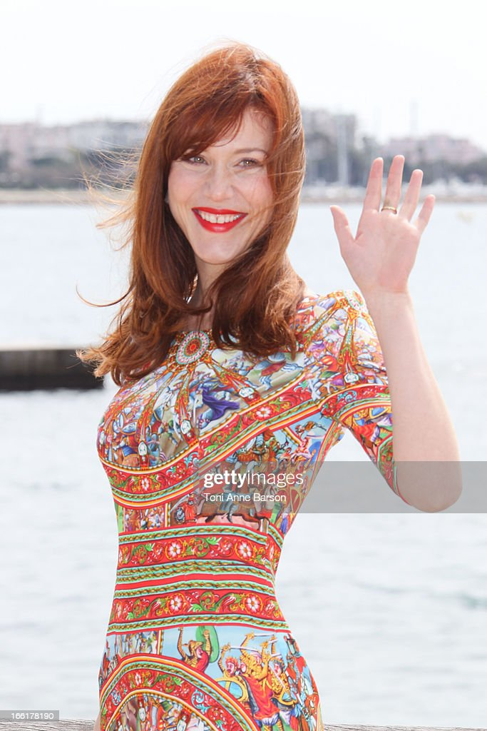 Gabriella Pession attends 'Crossing Lines' Photocall during MIPTV 2013 on April 9, 2013 in Cannes, France.