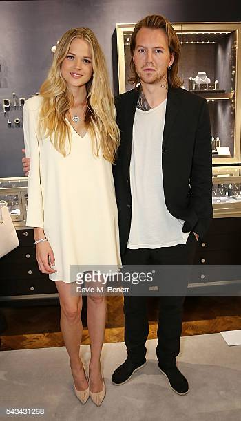 Gabriella Wilde and Alan Powell attend the Mappin Webb Regent Street Flagship opening event on June 28 2016 in London England