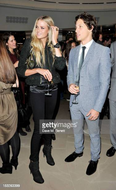 Gabriella Wilde and Rob Pryor attend as Burberry celebrates The Britain at Burberry Regent Street on October 2 2012 in London England