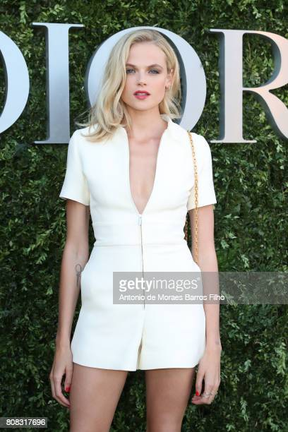 Gabriella Wilde attends 'Christian Dior couturier du reve' Exhibition Launch celebrating 70 years of creation at Musee Des Arts Decoratifs on July 3...