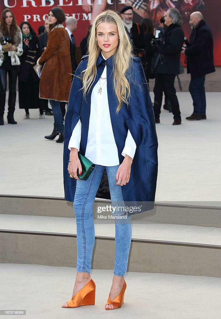 Gabriella Wilde attends the Burberry Prorsum show during London Fashion Week Fall/Winter 2013/14 at on February 18, 2013 in London, England.