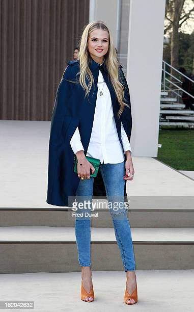Gabriella Wilde attends the Burberry Prorsum show during London Fashion Week Fall/Winter 2013/14 at on February 18 2013 in London England