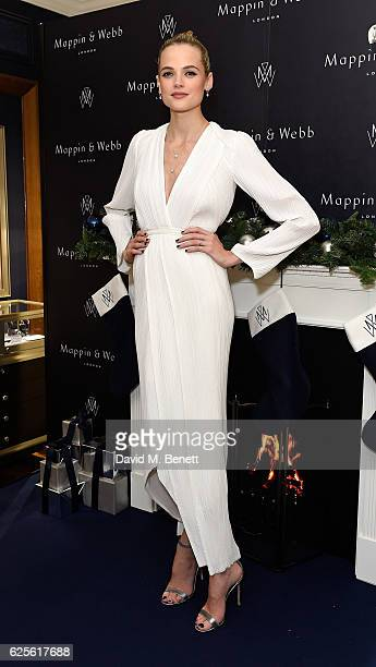 Gabriella Wilde attends the Mappin Webb Christmas Party at the Flagship Regent Street Boutique on November 24 2016 in London England