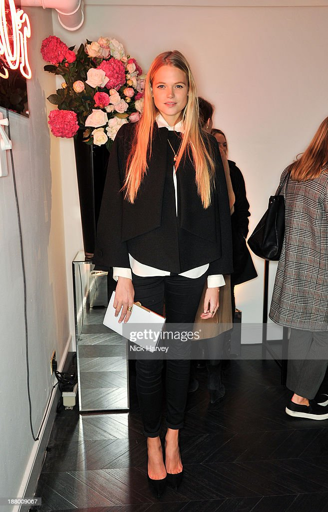 Gabriella Wilde attends the opening of Dior Beauty Boutique on November 14, 2013 in Covent Garden, London, England.