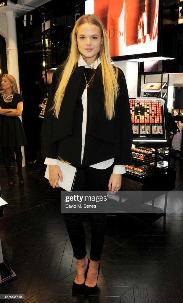 Gabriella Wilde attends the opening of the Dior Beauty Boutique in Covent Garden on November 14, 2013 in London, England.