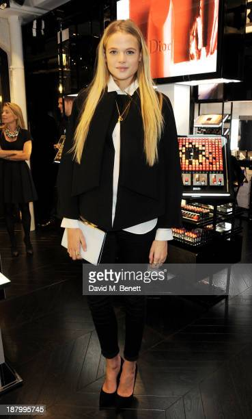 Gabriella Wilde attends the opening of the Dior Beauty Boutique in Covent Garden on November 14 2013 in London England