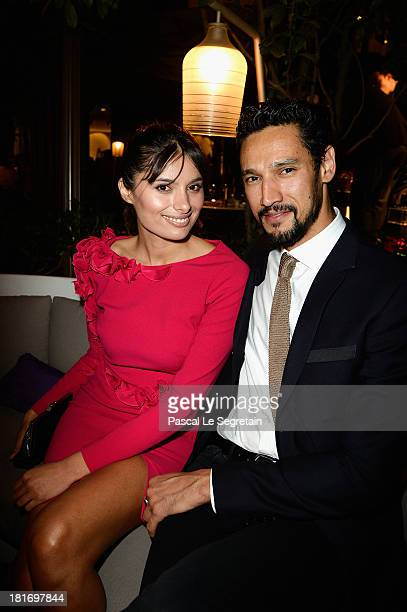 Gabriella Wright and Stany Coppet attend the 'J'Aime La Mode' Cocktail Event Hosted by Chef Thierry Marx at Hotel Mandarin Oriental on September 23...