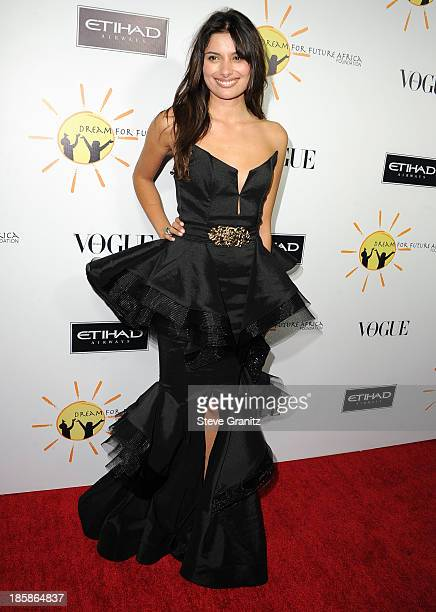 Gabriella Wright arrives at the Gelila And Wolfgang Puck's Dream For Future Africa Foundation Gala at Spago on October 24 2013 in Beverly Hills...