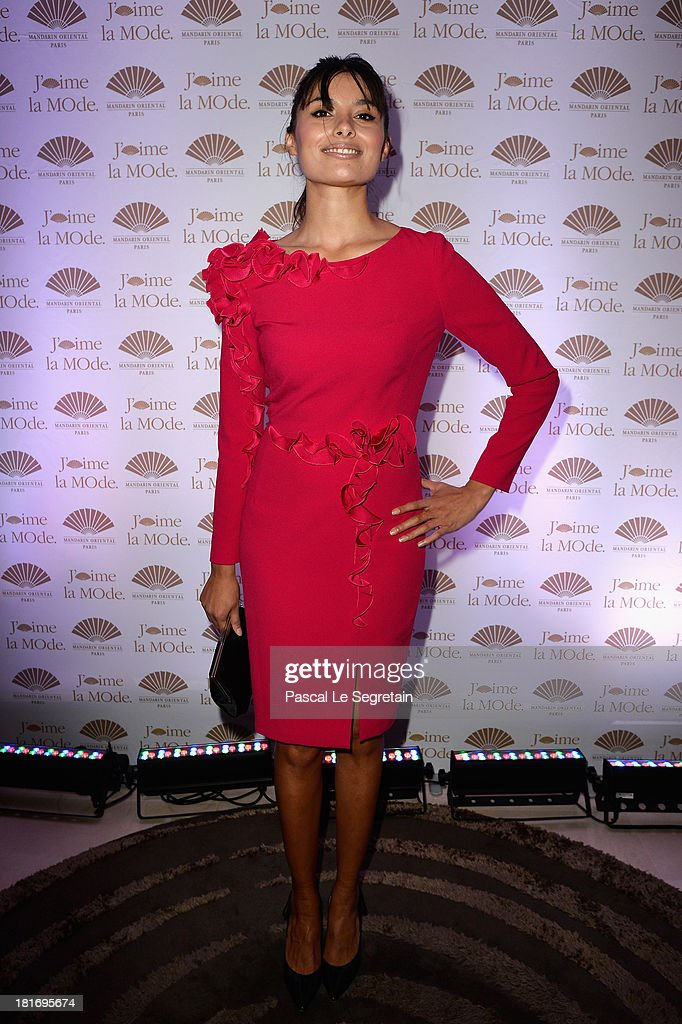 <a gi-track='captionPersonalityLinkClicked' href=/galleries/search?phrase=Gabriella+Wright&family=editorial&specificpeople=2544708 ng-click='$event.stopPropagation()'>Gabriella Wright</a> attends the 'J'Aime La Mode' Cocktail Event Hosted by Chef Thierry Marx at Hotel Mandarin Oriental on September 23, 2013 in Paris, France.
