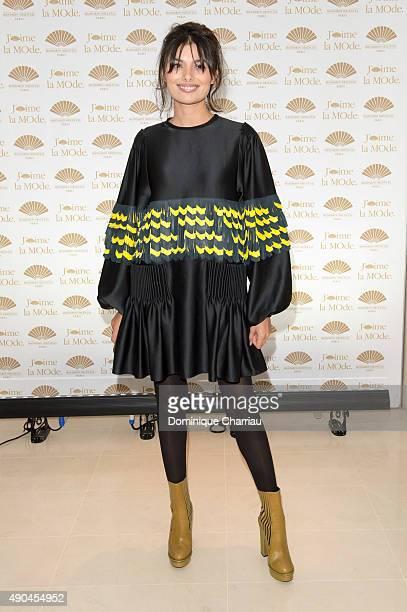 Gabriella Wright attends the J'aime La Mode Mandarin Oriental Photocall at Hotel Mandarin Oriental on September 28 2015 in Paris France