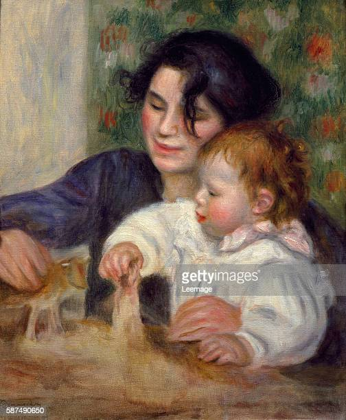 Gabrielle and Jean by Pierre Auguste Renoir c18956 65x54 cms Musee de l'Orangerie Paris France