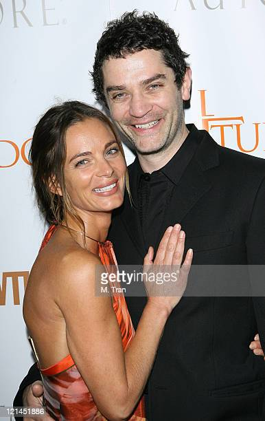 Gabrielle Anwar and James Frain during 'The Tudors' Los Angeles Premiere Arrivals at Egyptian Theatre in Hollywood California United States
